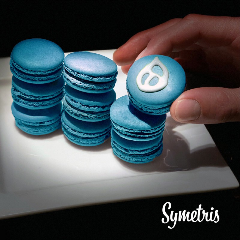 Drupal 9 stack upgrade - blue macarons